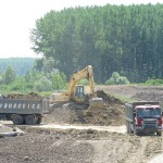 Iskop zemlje na pripremi deponijske kasete