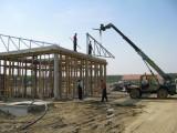 Izgradnja praonice - Postavljanje krovnih nosača